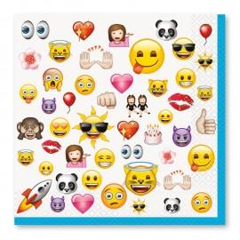 16 Tovaglioli con Emoticons 33 cm