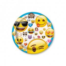 8 Piatti con Emoticons 17,7 cm