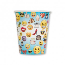 8 Bicchieri con Emoticons 250 ml