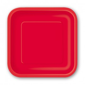 8 Piatti di Carta Quadrati 23 cm