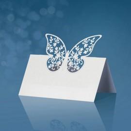 10 Biglietti con Farfalla 9 x 7,3 cm