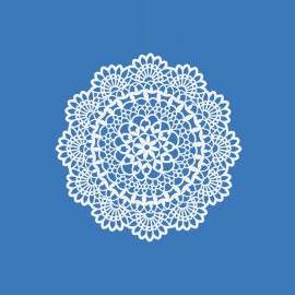 10 Rosette decorative di carta 5 cm
