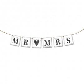 Bandierine Mr & Mrs con Cuore 77 cm