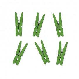 10 Mollette di Legno 3,5 cm