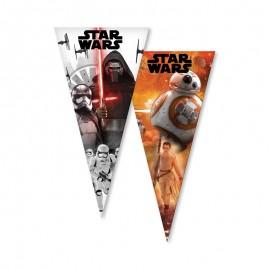 6 Sacchetti Star Wars per Caramelle forma Cono