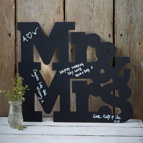 Lettere per Matrimonio Lavagna Mr & Mrs