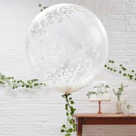 Palloncino con Coriandoli Gigante Bianco 90 cm