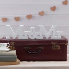 Lettere per Matrimoni di Legno Mr e Mrs