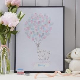 Albero di Impronte per Baby Shower
