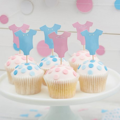 12 Topper per Cupcake Baby Shower