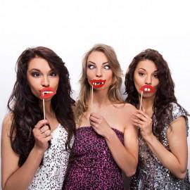 3 Accessori senza Denti per Photo Booth