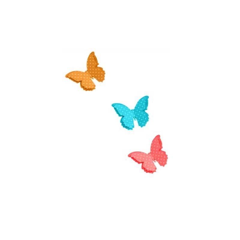 Farafalle di carta decorative for Farfalle decorative per muri