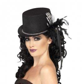 Cappello di Scheletro con Piume