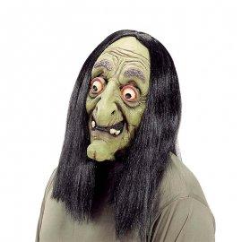 Maschera con Parrucca da Strega