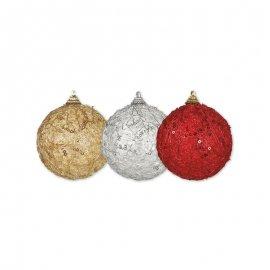 Pallina di Natale con Paillette 8 cm