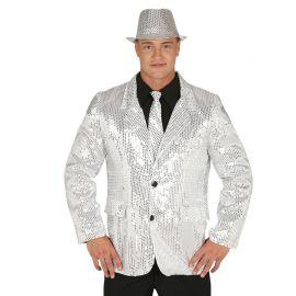 Giacca da Uomo con Paillette Argento