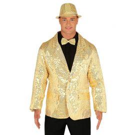 Giacca da Uomo con Paillette Oro