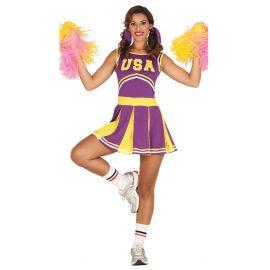 Costume da Cheerleader per Donna Lilla afd9983be2c