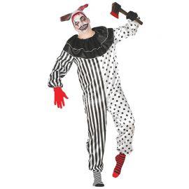 Costume da Pagliaccio Pierrot per Uomo Terrificante
