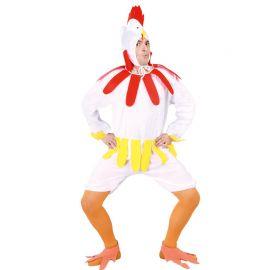 Costume da Gallina per Adulto Colore Bianco