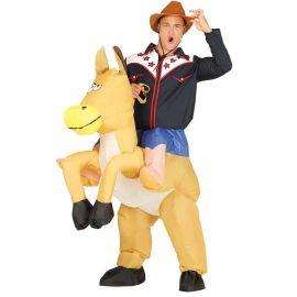 Costume da Cowboy per Adulto Cavallo Gonfiabile