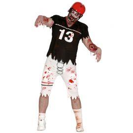 Costume da Quaterback Zombie per Uomo con Protezioni