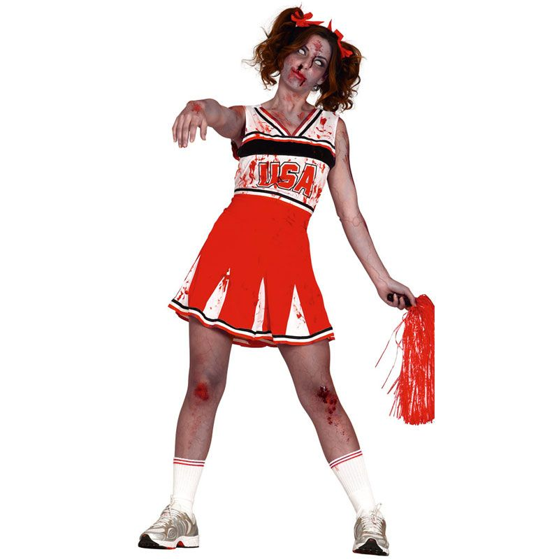 big sale b9cfe 27ff8 Costume da Zombie Cheerleader a Vestito da Donna