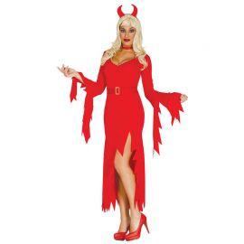 Costume da Diavioletta con Diadema per Donna