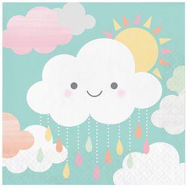 16 Tovaglioli Nuvole 33 cm