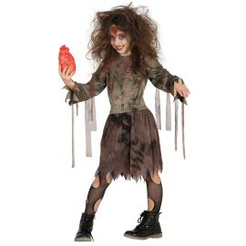 Costume Zombie Vestito Terrificante per Bambina