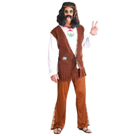 Costume da Hippie Flower Uomo Anticonformista