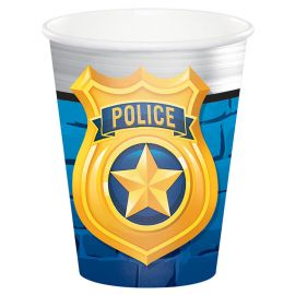 8 Vasos Policia 266 ml