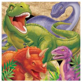16 Tovaglioli dei Dinosauri 33 cm