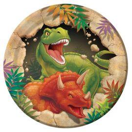 8 Piatti di Dinosauri 18 cm