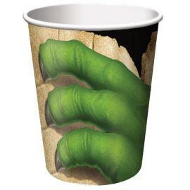 8 Bicchieri Dinosauri 266 ml