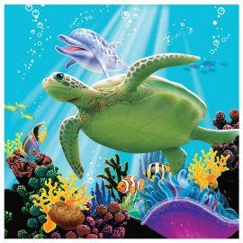 16 Tovaglioli Ocean Party 25 cm