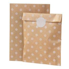 8 Sacchetti di Carta Kraft con Adesivi