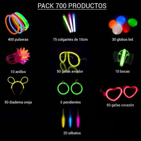 Fluo Party Kit 700 prodotti