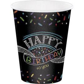 8 Bicchieri Chalk Birthday 0,350 l.