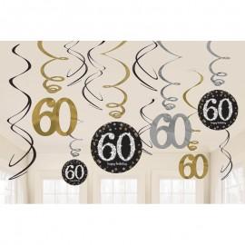 12 Decorazioni appese 60 elegant