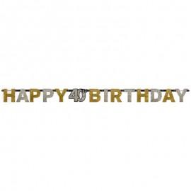 Festone Happy 40 anni Birthday Elegant