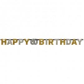 Festone Happy Birthday 60 elegant