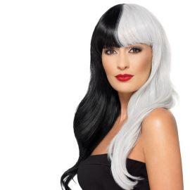 Parrucca Bianca e Nera Deluxe