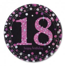 8 Piatti 18 Elegant Pink 23 cm