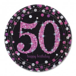 8 Piatti 50 Elegant Pink 23 cm