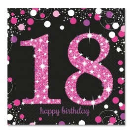16 Tovaglioli 18 Elegant Pink 33 cm