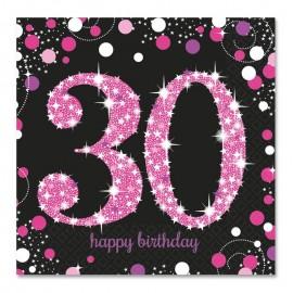 16 Tovaglioli 30 Elegant Pink 33 cm