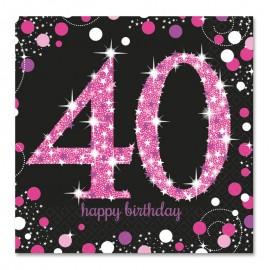 16 Tovaglioli 40 Elegant Pink 33 cm