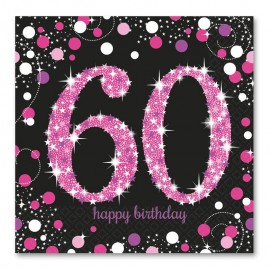 16 Tovaglioli 60 Elegant Pink 33 cm