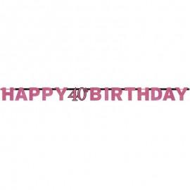 Festoni Compleanno 40 Anni Elegant Pink